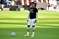 WASHINGTON, DC - NOVEMBER 8: Romell Quioto #30 of Montreal Impact warming up during a game between Montreal Impact and D.C. United at Audi Field on November 8, 2020 in Washington, DC.