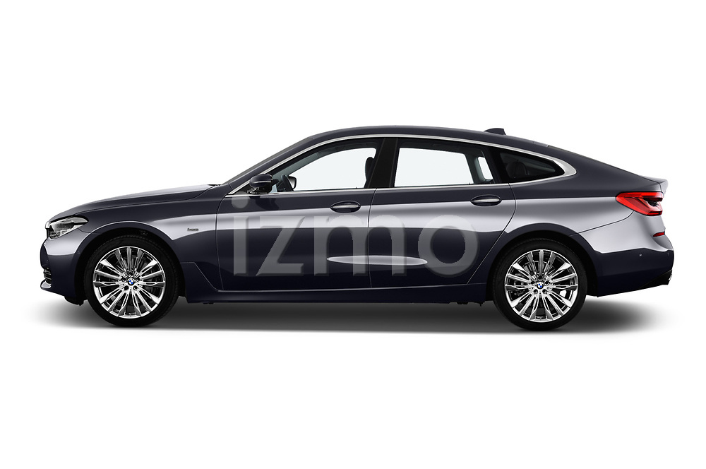 Car driver side profile view of a 2018 BMW 6 Series Gran Turismo Luxury 5 Door Hatchback