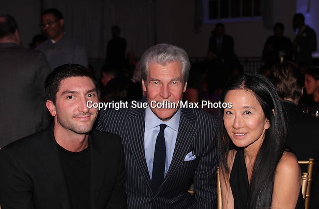 Terry Lundgren with Evan Lysacek and Vera Wang - The 11th Annual Skating with the Stars Gala - a benefit gala for Figure Skating in Harlem on April 11, 2016 on Park Avenue in New York City, New York with many Olympic Skaters and Celebrities. (Photo by Sue Coflin/Max Photos)