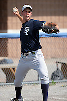 July 9th 2007:  Phil Bartleski of the Staten Island Yankees, Class-A affiliate of the New York Yankees, at Dwyer Stadium in Batavia, NY.  Photo by:  Mike Janes/Four Seam Images