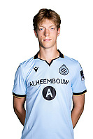 20th August 2020, Brugge, Belgium;  Ben Van Lommel pictured during the team photo shoot of Club Brugge NXT prior the Proximus league football season 2020 - 2021 at the Belfius Base camp