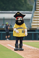 Bradenton Marauders mascot Marty the Marauder after a Florida State League game against the Tampa Tarpons on May 26, 2019 at LECOM Park in Bradenton, Florida.  Bradenton defeated Tampa 3-1.  (Mike Janes/Four Seam Images)