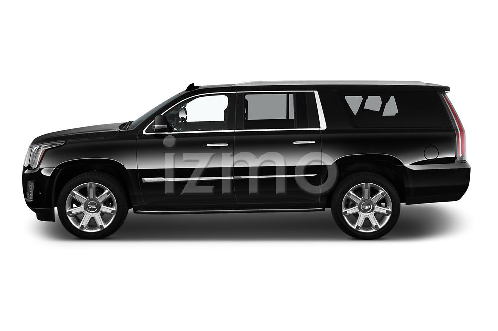 Car Driver side profile view of a 2020 Cadillac Escalade-ESV Premium-Luxury 5 Door SUV Side View