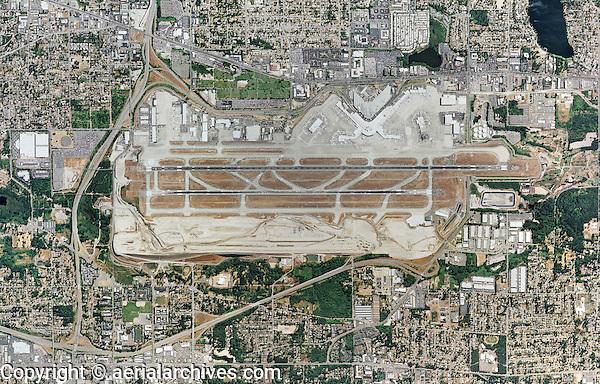 aerial photo map of Seattle-Tacoma International Airport, SeaTac (SEA)  Washington