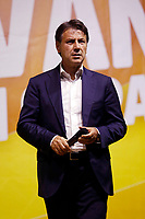 Former prime minister Giuseppe Conte on the stage during the closing of the election campaign for the new mayor of the city.<br /> Rome (Italy), October 1st 2021<br /> Photo Samantha Zucchi Insidefoto