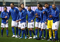 Footbal Soccer: FIFA World Cup Qatar 2022 Qualification, Italy - Northern Ireland, Ennio Tardini stadium, Parma, March 26, 2021.<br /> Italy's players prior to the FIFA World Cup Qatar 2022 qualification, football match between Italy and Northern Ireland, at Ennio Tardini stadium in Parma on March 26, 2021.<br /> UPDATE IMAGES PRESS/Isabella Bonotto