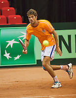 09-09-13,Netherlands, Groningen,  Martini Plaza, Tennis, DavisCup Netherlands-Austria, DavisCup,   Training, Robin Haase (NED)<br /> Photo: Henk Koster