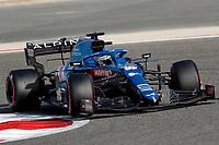 27th March 2021; Sakhir, Bahrain; F1 Grand Prix of Bahrain, Qualifying sessions;  14 ALONSO Fernando (spa), Alpine F1 A521 during Formula 1 Gulf Air Bahrain Grand Prix 2021 qualifying