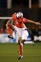 Virginia Tech Hokies forward Robert Edmans (15) during an NCAA College Cup semi-final match against the Wake Forest Demon Deacons at SAS Stadium in Cary, NC on December 14, 2007. Wake Forest defeated Virginia Tech 2-0.