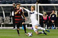 Chester, PA - Friday December 08, 2017: Jared Gilbey, Skye Harter The Stanford Cardinal defeated the Akron Zips 2-0 during an NCAA Men's College Cup semifinal match at Talen Energy Stadium.