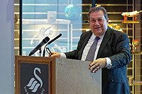 Pictured: Kevin John. Thursday 27 September 2018<br /> Re: Swansea City AFC Business Networking event at the Liberty Stadium, Wales, UK.