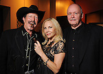"""Kinky Friedman, Carolyn Farb and Ted Swindley at a reception held after a reading of """"Becoming Kinky: The World According to Kinky Friedman"""" at the Stages Repertory Theater Friday Aug. 13,2010.(Dave Rossman/For the Chronicle)"""