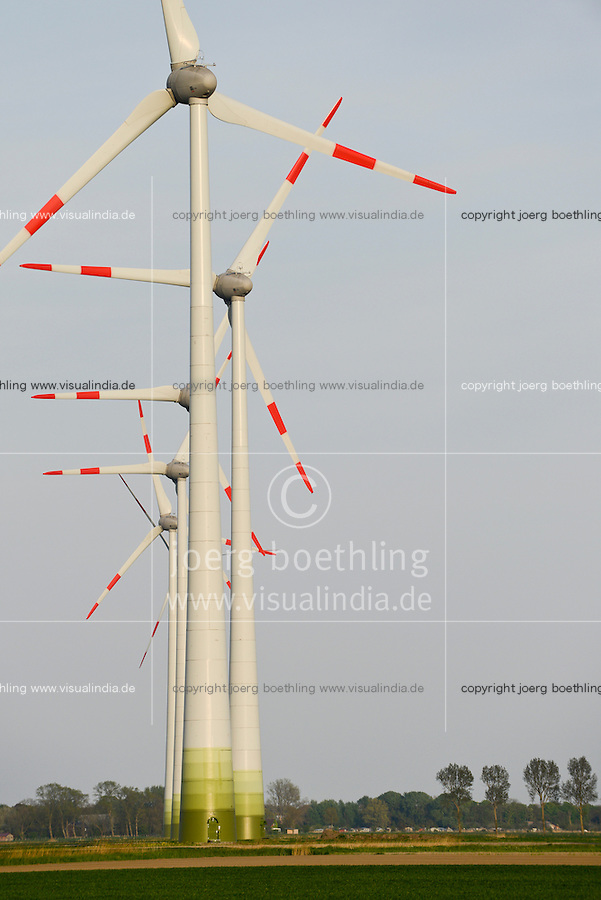 GERMANY Marne, Enercon wind turbine E-82 / DEUTSCHLAND, Windkraftanlagen Enercon E-82 in Reihe