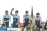 Israel Start-Up Nation at sign on before Stage 18 of the 2021 Tour de France, running 129.7km from Pau to Luz Ardiden, France. 15th July 2021.  <br /> Picture: A.S.O./Charly Lopez   Cyclefile<br /> <br /> All photos usage must carry mandatory copyright credit (© Cyclefile   A.S.O./Charly Lopez)