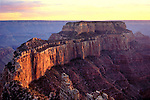 A vermillion sky lights up Cape Royal at the north rim of the Grand Canyon.