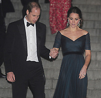 NEW YORK, NY - DECEMBER 09: Prince William, Duke of Cambridge and Catherine, Duchess of Cambridge leave the St. Andrews 600th Anniversary Dinner at the Metropolitan Museum of Art on December 9, 2014 in New York City. The event is created to support scholarships and bursaries for students from under-privileged communities and investment in the university's media and science faculties, sports centers and lectureship in American literature.<br /> <br /> People:  Catherine, Duchess of Cambridge, Prince William, Duke of Cambridge