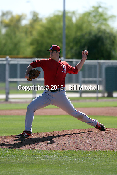 Connor Lillis-White - Los Angeles Angels 2016 spring training (Bill Mitchell)