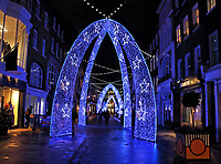 South Molton Street in Mayfair is an exclusive shopping district just off Oxford Street. It's spectacular Christmas lights make it a top destination for shopping in the festive season every year. London November 25th 2020<br /> <br /> Photo by Keith Mayhew