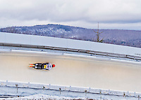 9 January 2016: Axel Jungk, competing for Germany, slides through Curve 14 on his second run of the day during the BMW IBSF World Cup Skeleton Championships at the Olympic Sports Track in Lake Placid, New York, USA. Jungk ended the day with a combined 2-run time of 1:49.77 and a 4th place finish. Mandatory Credit: Ed Wolfstein Photo *** RAW (NEF) Image File Available ***