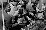 Portobello Road Notting Hill Saturday market stall. 1975, Multiethnic Britain 1970s UK