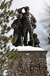 Donner Monument in winter
