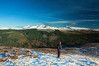 Ben Vorlich, Stuc a Chroin and Beinn Each from Beinn an t-Sidhein, Strathyre, Loch Lomond and the Trossachs National Park, Stirlingshire