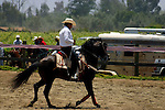 MEXICAN MAN DISPLAYS HIS HORSE SKILLS at the ANNUAL RODEO COMPETITION