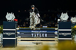 Jérôme Guery of Belgium riding Papillon Z in action in the the Longines Speed Challenge during the Longines Masters of Hong Kong at AsiaWorld-Expo on 10 February 2018, in Hong Kong, Hong Kong. Photo by Ian Walton / Power Sport Images