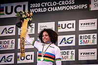 Ceyling Del Carmen Alverado (NED) wins the Women's Elite Race and is the new World Champion Women Elite. <br /> <br /> UCI 2020 Cyclocross World Championships<br /> Dübendorf / Switzerland<br /> <br /> ©kramon