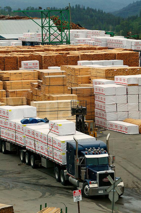 Lumber industry in Quesnel, British Columbia, Canada.