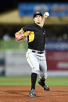Bradenton Marauders pitcher Thomas Harlan (19) delivers a pitch during a game against the Charlotte Stone Crabs on April 4, 2014 at Charlotte Sports Park in Port Charlotte, Florida.  Bradenton defeated Charlotte 9-1.  (Mike Janes/Four Seam Images)