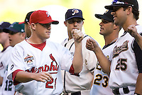 July 15, 2009: Memphis Redbirds' Jess Todd during the 2009 Triple-A All-Star Game introductions at PGE Park in Portland, Oregon.