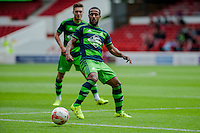 NOTTINGHAM, ENGLAND - JULY 25: Wayne Routledge of Swansea City in action during the pre season friendly match between Nottingham Forest and Swansea City at The City Ground on July 25, 2015 in Nottingham, England.  (Photo by Aled Llywelyn / Athena Pictures )