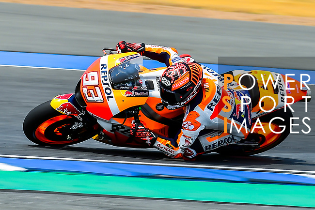 Repsol Honda Team's rider Marc Marquez of Spain rides during the MotoGP Official Test at Chang International Circuit on 17 February 2018, in Buriram, Thailand. Photo by Kaikungwon Duanjumroon / Power Sport Images
