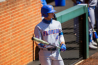 Florida Gators center fielder Jud Fabian (4) at bat against the Tennessee Volunteers on Robert M. Lindsay Field at Lindsey Nelson Stadium on April 11, 2021, in Knoxville, Tennessee. (Danny Parker/Four Seam Images)