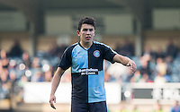Goal scorer Luke O'Nien of Wycombe Wanderers during the Sky Bet League 2 match between Wycombe Wanderers and Northampton Town at Adams Park, High Wycombe, England on 3 October 2015. Photo by Andy Rowland.