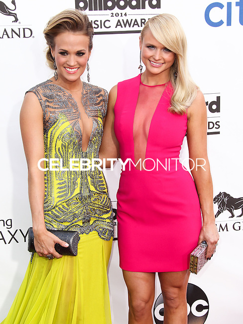 LAS VEGAS, NV, USA - MAY 18: Carrie Underwood, Miranda Lambert at the Billboard Music Awards 2014 held at the MGM Grand Garden Arena on May 18, 2014 in Las Vegas, Nevada, United States. (Photo by Xavier Collin/Celebrity Monitor)