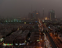 Dubai skyline and transit system during a sand storm. Much has changed since my first visit, notably the completion of the Burj Khalifa and the aforementioned transit system, along with pretty much everything else that was still only half-built in 2008.