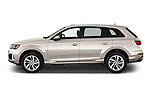 Car Driver side profile view of a 2020 Audi Q7 Premium 5 Door SUV Side View