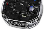 Car Stock 2016 Audi A6 - 4 Door Sedan Engine  high angle detail view