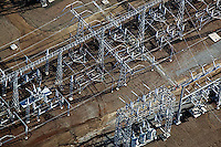aerial photograph PGE electrical substation, Petaluma, Sonoma county, California