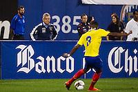 Ecuador head coach: Reinaldo Rueda. Ecuador defeated Chile 3-0 during an international friendly at Citi Field in Flushing, NY, on August 15, 2012.