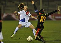 Netherlands U17 - Belgium U17 : duel met Jill Jamie  Roord.foto Joke Vuylsteke / Vrouwenteam.be