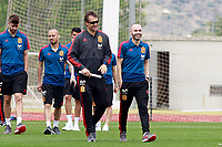 Spain's coach Julen Lopetegui (l) and Andres Iniesta before training session. June 5,2018.(ALTERPHOTOS/Acero) /NortePhoto.com NORTEPHOTOMEXICO