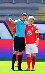 Fussball - 3.Bundesliga - Saison 2020/21<br /> Kaiserslautern -  Fritz-Walter-Stadion 03.04.2021<br /> 1. FC Kaiserslautern (fck)  - FC Halle (hal) 3:1<br /> Schiedsrichter Michael BACHER und Jean ZIMMER (1. FC Kaiserslautern)<br /> <br /> Foto © PIX-Sportfotos *** Foto ist honorarpflichtig! *** Auf Anfrage in hoeherer Qualitaet/Aufloesung. Belegexemplar erbeten. Veroeffentlichung ausschliesslich fuer journalistisch-publizistische Zwecke. For editorial use only. DFL regulations prohibit any use of photographs as image sequences and/or quasi-video.