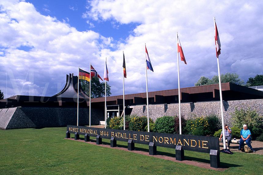 World War II Museum of 1944 battles at Omaha Beach Normandy France