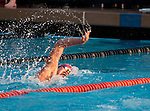 Swimmer competes at the CIF Division 3 & 4 Swimming Championships at Riverside City College.