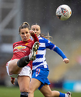 7th February 2021; Leigh Sports Village, Lancashire, England; Women's English Super League, Manchester United Women versus Reading Women; Amy Turner of Manchester United Women clears the ball