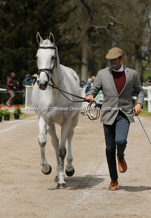 April 21, 2021: 33 Tight Lines and rider William Coleman from the USA in the first horse veterinary inspection at the Land Rover Three Day Event at the Kentucky Horse Park in Lexington, KY on April 21, 2021.  Candice Chavez/ESW/CSM