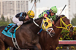 General a Rod with Joel Rosario up gets a head in front of Wildcat Red and jockey Paco Lopez to win the Gulfstream Park Derby at Gulfstream Park. Hallandale Beach, Florida 01-01-2014
